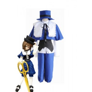 Rozen Maiden Souseiseki Blue White Cosplay Costumes