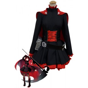 Ruby Rose Red and Black Anime Cosplay Costumes