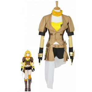 Yang Xiao Yellow Uniform Cosplay Costumes