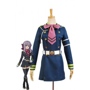 Seraph Of The End Shinoa Hiragi Uniform Dress Cosplay Costume