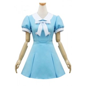 K-ON Blue Japanese School Girls Cosplay Costumes