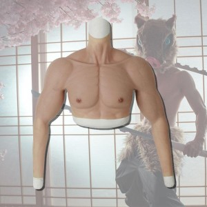 Silicone False Fake Muscle Elasticity Chest Man 4 Color Cosplay Prop