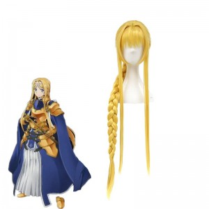 Sword Art Online Alicization Alice·Synthesis·Thirty Blond Long Woven ponytail Cosplay Wigs