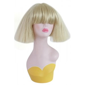 34cm short Blonde cosplay wig Punk Rock exploded corn hot non-mainstream