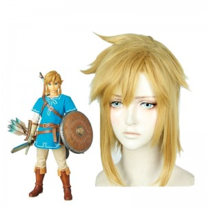 The Legend of Zelda Breath of the Wild Link Blond Cosplay Wigs