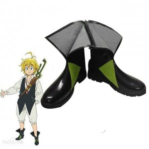 The Seven Deadly Sins Meliodas Black Anime Cosplay Boots