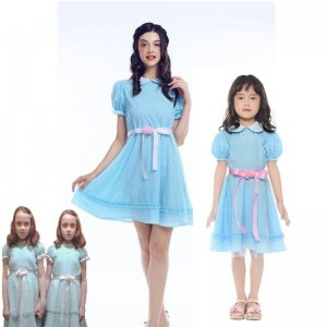 The Shining Twins Cosplay Halloween Party Dress For Women Kids