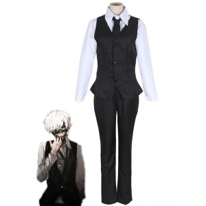 Tokyo Ghoul Kaneki Ken Antique Coffee Shop Work Uniform Cosplay Costumes