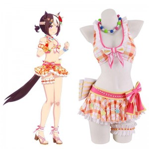 Uma Musume Pretty Derby Special Week Swimsuit Cosplay Costume