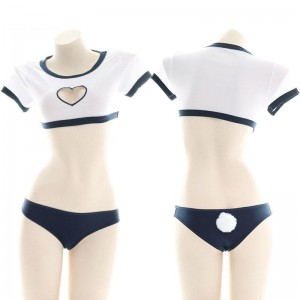 Uniform Underwear Love Hollow Cosplay Costume With Bunny Tail