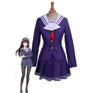 Saekano: How to Raise a Boring Girlfriend Utaha Kasumigaoka Purple Dress Anime Cosplay Costumes