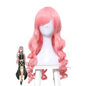 Vocaloid Luka Girls Pretty Long Pink Anime Wavy Cosplay Wigs