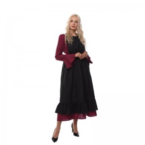 Women Renaissance Victorian Medieval Long Defined Waist Dress