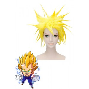30cm Yellow Dragon Ball Vegeta Cosplay Wig