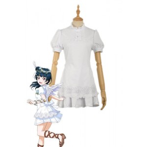 Love Live Sunshine Angel Aqours Unawaken Yoshiko Tsushima White Dress Anime Cosplay Costumes