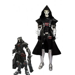 OW Game Reaper Customized Cosplay Costumes Full Set