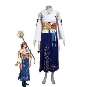 10 - Una Final Fantasy Pack 1 Generation - Summons White And Blue Cosplay Costumes