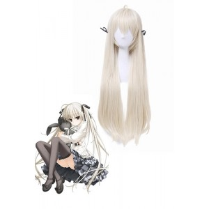 Yosuga no Sora Kasugano Sora Long Flaxen Synthetic Cosplay Wigs