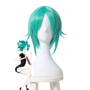 Land of the Lustrous Phosphophyllite Short Green Synthetic Anime Cosplay Woman Wigs