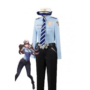 OW Game D.Va Hana Song Woman Police Officer Cosplay Costumes