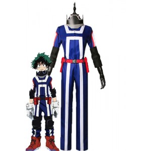 My Hero Academia Izuku Midoriya Anime Cosplay Blue Uniform Costumes