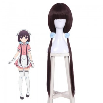 Blend S Sakuranomiya Maika Anime Cosplay Purple Wigs