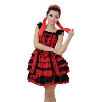 Court Aristocrat Retro Long Sleeves Lolita Red Princess Dress
