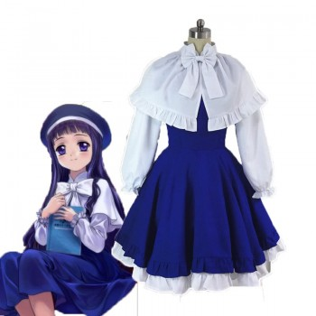 Cardcaptor Sakura Tomoyo Daidouji Singer Blue Dress Cosplay Costume