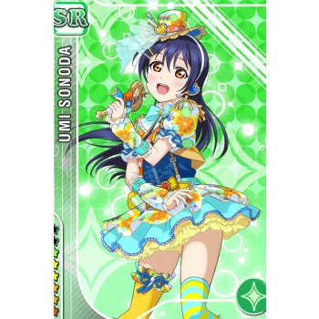 Presale Love Live! Sonoda Umi SR New Green Card Orange Dresses Suit Cosplay Costumes