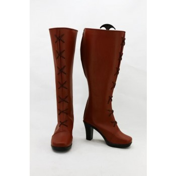 The Legend Of Heroes Red And Brown Boots Cosplay Shoes