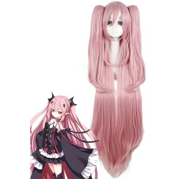 115cm Long Pink Seraph of the End Krul Tepes Cosplay Wig