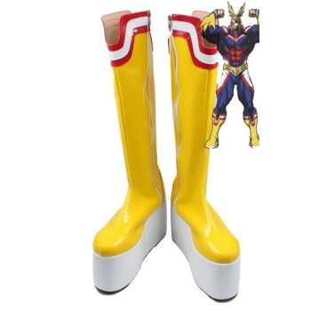 My Hero Academia All Might Anime Cosplay Shoes Customized Long Boots
