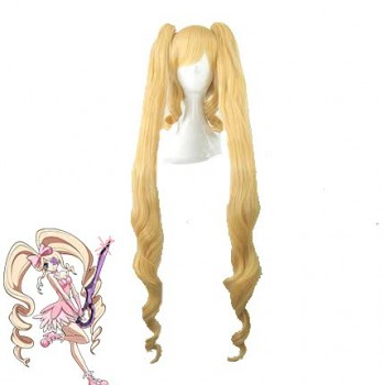 KILL LA KILL Nui Wallpaper Long Culry Blonde Synthetic Cosplay Wigs
