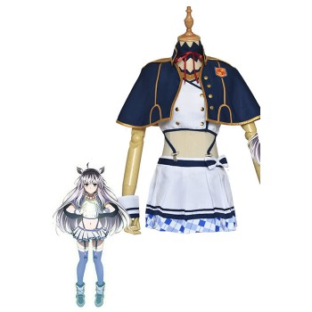 Akashic Records Of Bastard Magic Instructor Sistine Fibel Blue Girl Dress Anime Cosplay Costumes