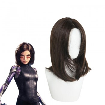 Alita: Battle Angel Alita Short Brown Wig Cosplay Wigs