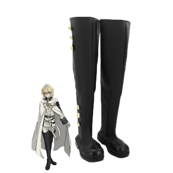 Anime Seraph of the end Mikaela Hyakuya Cosplay Shoes Customized Long Boots