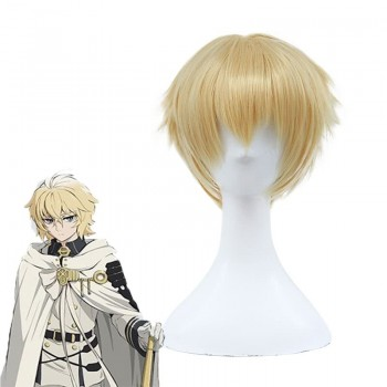Anime Seraph of the end Mikaela Hyakuya Cosplay Wigs Short Hair Wigs
