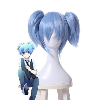 Assassination Classroom Shiota Nagisa Blue Fade White Wig