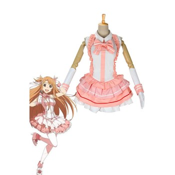Sword Art Online Asuna Yuuki Cosplay Costume Female Dress