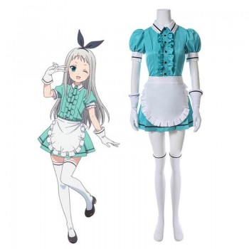 Blend S Hideri Kanzaki Anime Green Cosplay Costumes
