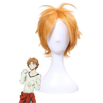 Bungou Stray Dogs Junichiro Tanizaki Anime Orange Brown Short Layered Cosplay Wigs