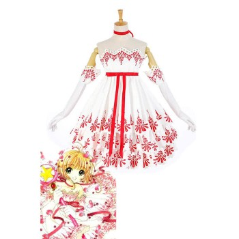 Presale Cardcaptor Sakura 20 Years Memorial Cosplay Costumes Roses Dresses