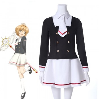Cardcaptor Sakura Clear Card Anime Cosplay Costume Sakura Tomoyo School Uniform Cosplay