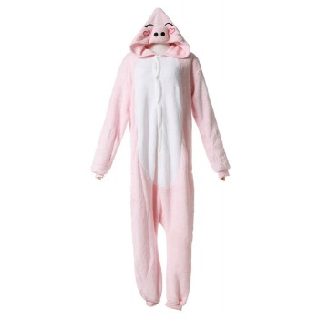 Cute Pig Fashion Pink Siamese Pajamas