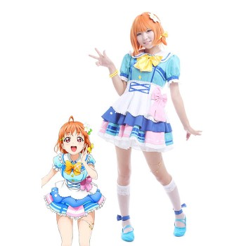 Love Live! Sunshine Aqours Chika Takami Anime Cosplay Costumes Performance Dresses