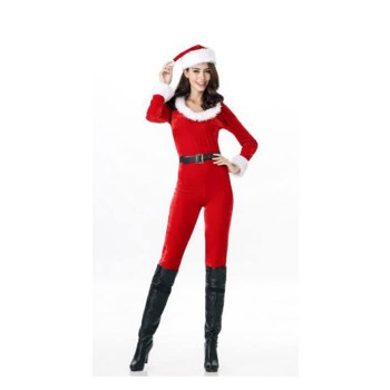 Adults Christmas Red Santa Claus Cosplay Costumes  For Women