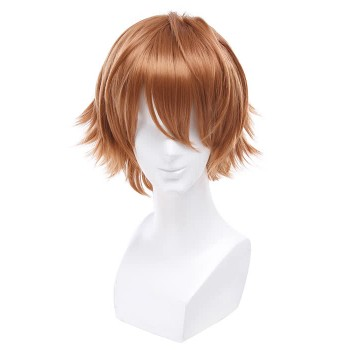 Hitman Reborn Anime Cosplay Wigs Men Short Brown Hair Wigs