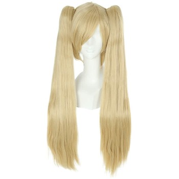 70cm Long Butterscotch Blonde Vocaloid Miku Straight Cosplay Wig