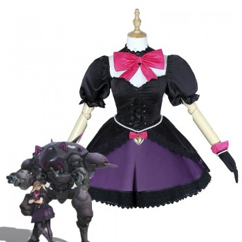 OW Dva Blackcat  Dress Video Game Cosplay Costumes