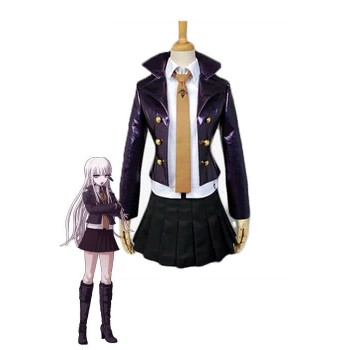 Danganronpa Kyouko Kirigiri Deep Purple Short Dress Cosplay suits